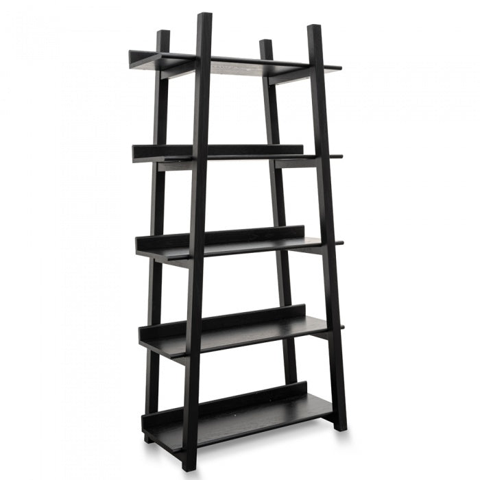 Martyn Bookshelf Storage - Black Oak Veneer - Notbrand