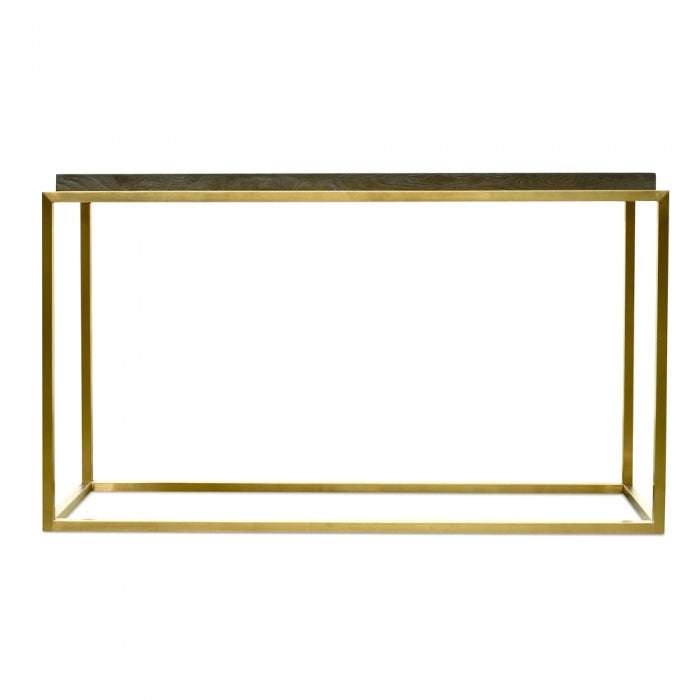 Handmade Elmwood Top Console Table - Golden - Notbrand