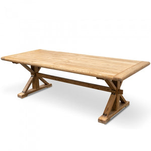 Elena Recycled Elm Dining Table - Rustic Natural 3m - Notbrand