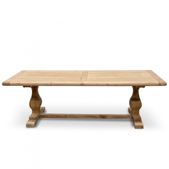 Rino Elm Wood Dining Table - Rustic Natural 2.4m - Notbrand