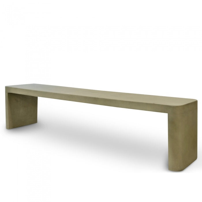 New York Concrete Dining Bench 2m - Grey - Notbrand
