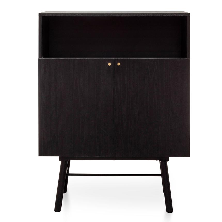 Egret 2 Doors Side Cupboard - Black Veneer - Notbrand
