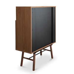 Egret 2 Doors Side Cupboard - Walnut Veneer - Notbrand