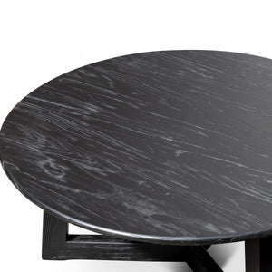 Renegade 1m Round Coffee Table - Black - Notbrand