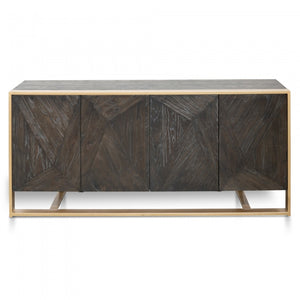 Danny Reclaimed Sideboard Buffet - Black - Notbrand