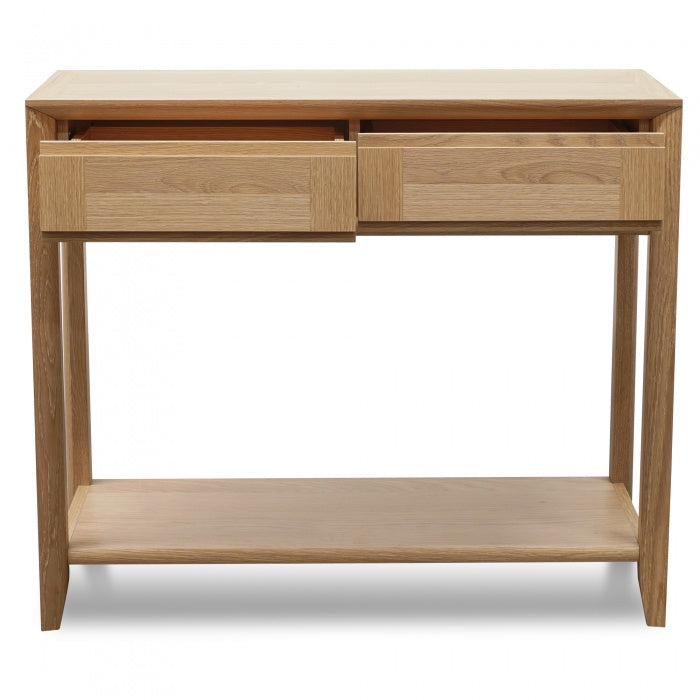 Console Table with Drawers - Oak - Notbrand
