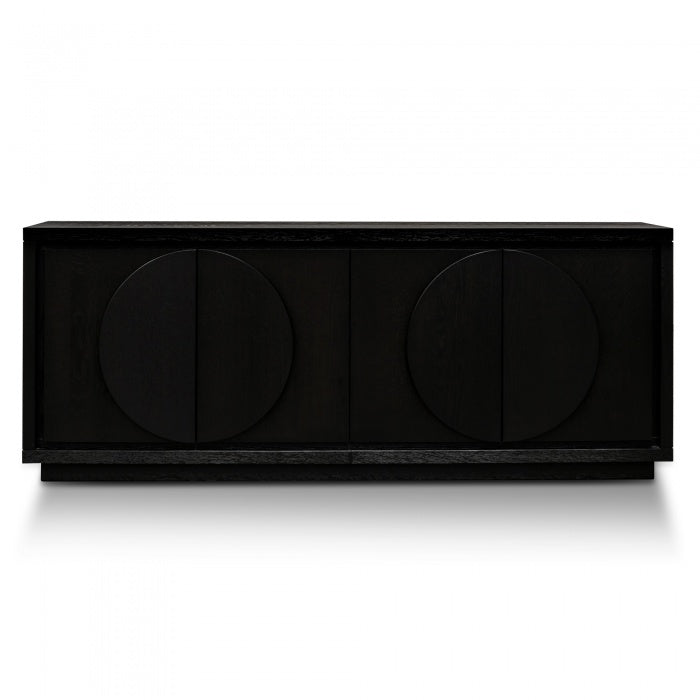 Alethea Buffet Unit - Textured Ebony Black 2m - Notbrand