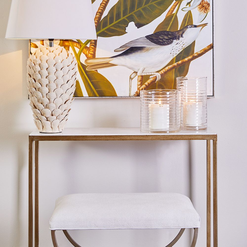 Chloe Marble Console Table - Small Gold - Notbrand