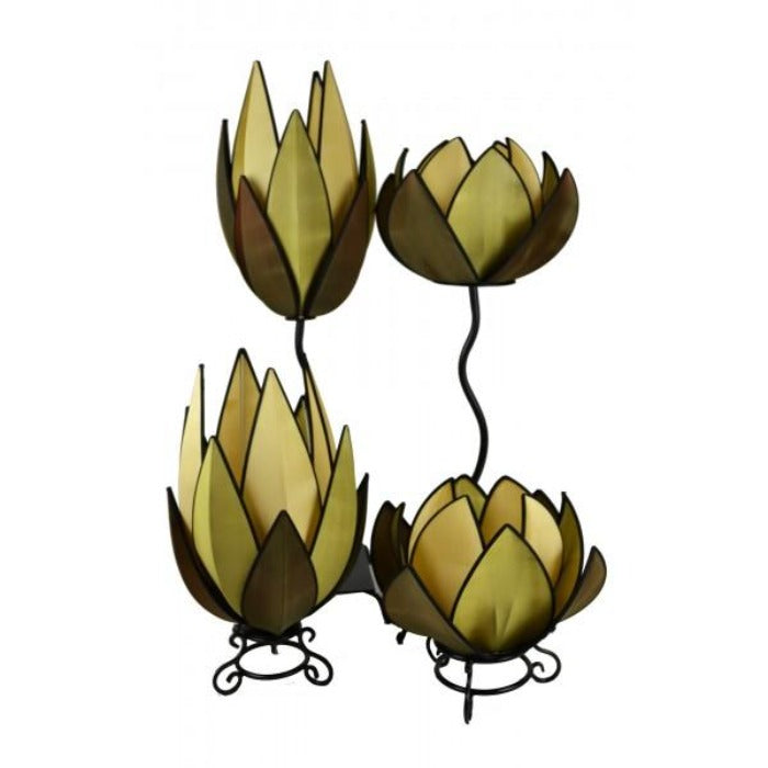 Petunia Green Waterlily Lamp