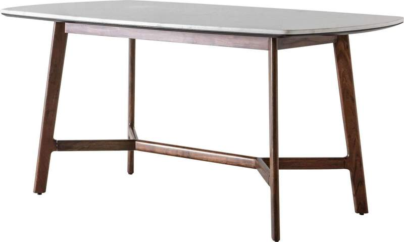 Belfast Marble Top Dining Table - Notbrand