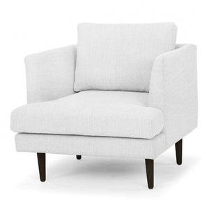 Milano Armchair - Light Texture Grey - Black Legs - Notbrand