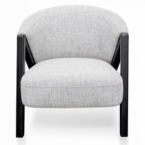 Asgrid Scandinavian Armchair - Light Grey - Black Oak - Notbrand