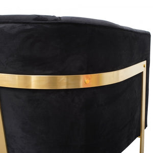 Georgia Armchair Black Velvet - Brushed Gold Base - Notbrand