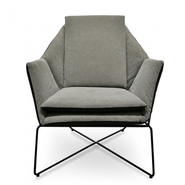 Elan Lounge Chair - Dark Black PU - Black - Notbrand