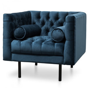 Royal Chesaterfield Armchair - Navy Blue - Notbrand