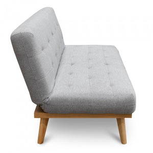 Evan 2 Seater Sofa Bed - Moonlight Grey - Notbrand