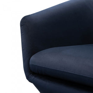 Margaret Swivel Lounge Chair - Navy Velvet - Notbrand