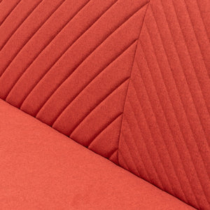 Marion 3 Seater Sofa Bed - Red Orange - Notbrand