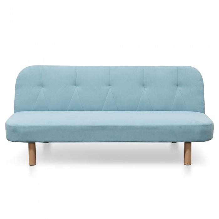 Pauline 3 Seater Sofa Bed - Sky Blue Fabric - Notbrand