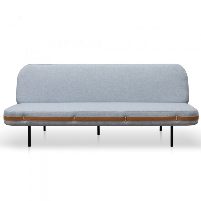 Sully 3 Seater Sofa Bed - Light Blue Fabric - Notbrand