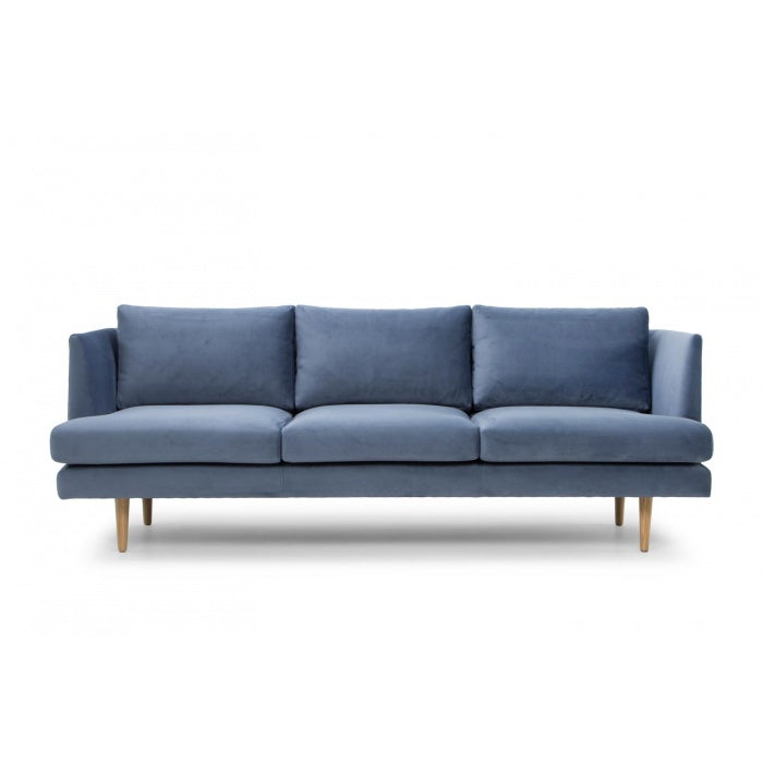 Milano 3 Seater Fabric Sofa - Dust Blue - Notbrand