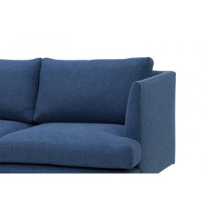 Milano 3 Seater Fabric Sofa - Navy - Notbrand