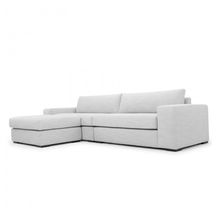 Clarke 3 Seater Sofa With Chaise - Light Texture Grey - Notbrand