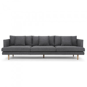 Milano 4 Seater Sofa - Metal Grey - Notbrand
