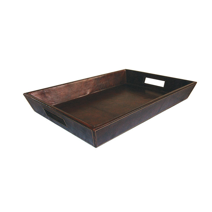 Beck Dark Leather Tray
