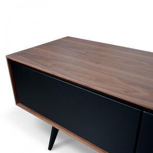 Dwell TV Unit With Black Matte Drawers - Walnut 180cm - Notbrand