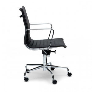 Leather Office Chair - Black - Notbrand
