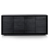 Manga 1.9m Wooden Sideboard - Black Oak - Notbrand