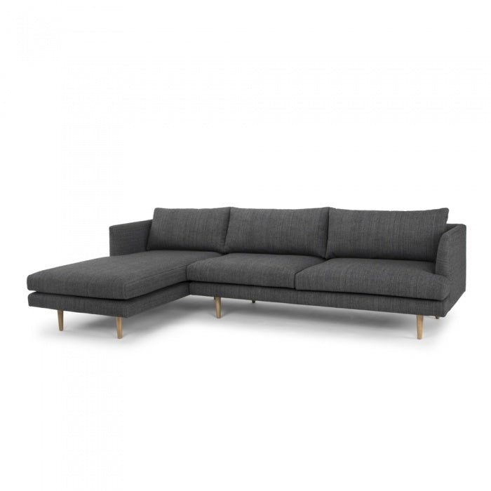 Austen 3 Seater With Left Chaise - Metal Grey - Notbrand