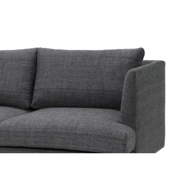 Jules 3 Seater Fabric Sofa - Metal Grey - Notbrand