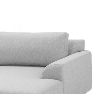 Jameson 3 Seater Right Chaise Sofa - Light Grey - Notbrand