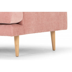 Romy Armchair - Dusty Blush with Natural Legs - Notbrand