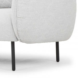 Alia 3 Seater Sofa in Light Texture Grey - Notbrand
