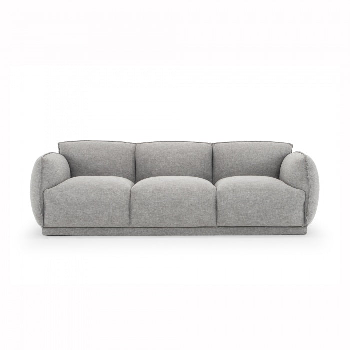 Jules 3 Seater Fabric Sofa - Dark Texture Grey - Notbrand