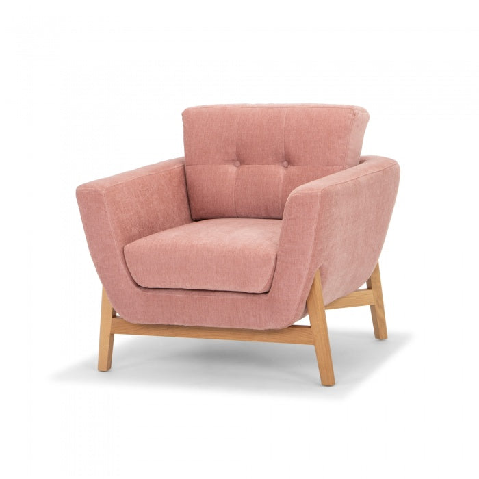 Salem Armchair - Dusty Blush - Notbrand