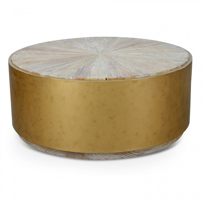 Reclaimed Elm Drum Coffee Table - Notbrand