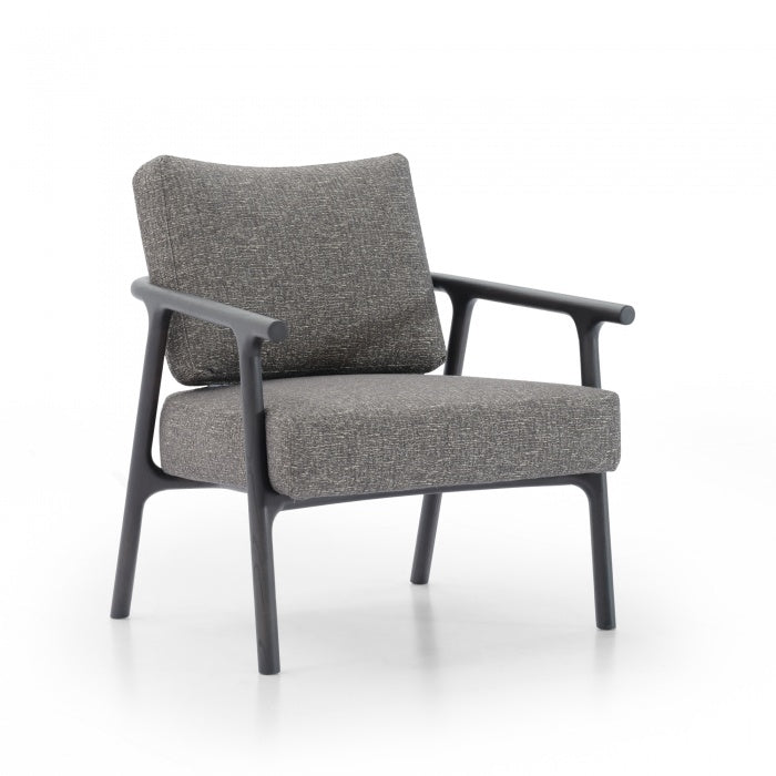 Keanu Fabric Armchair - Pebble Grey - Notbrand