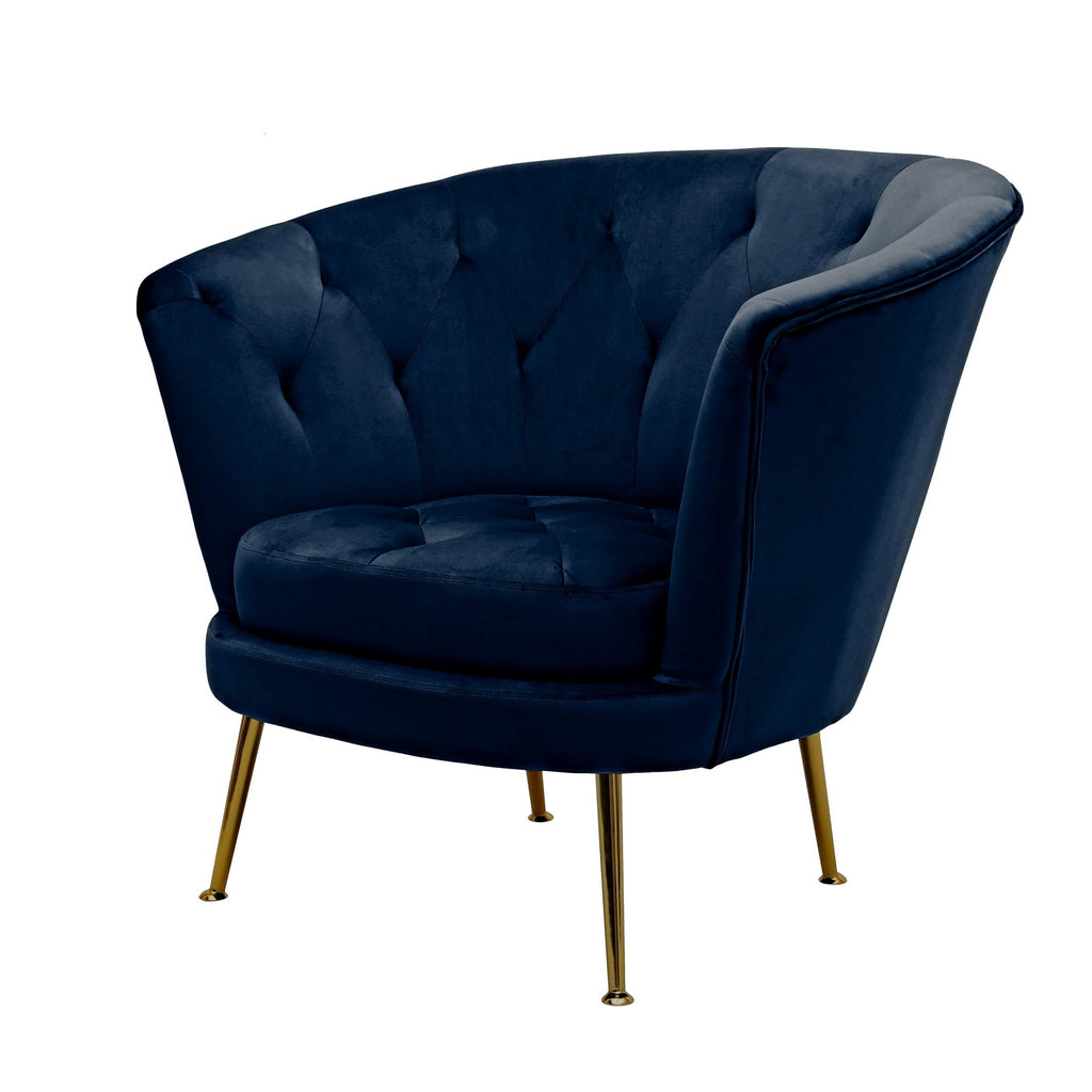 Sophia Navy Polyester Fabric Chair - Notbrand