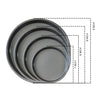 Set of 4 Black Steel Round Pizza Trays - Notbrand