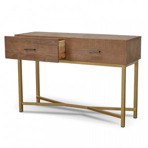 Milan Reclaimed Pine Narrow Wood Console Table - Notbrand