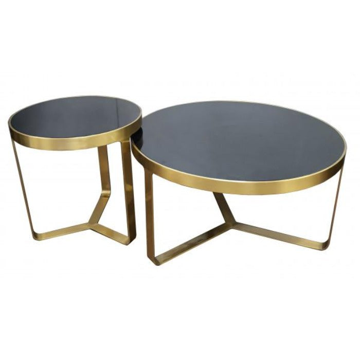 Modena Lacquer Round Coffee Table - Notbrand