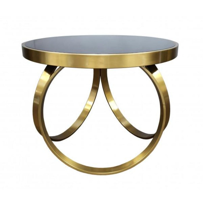 Modena Black & Brass Coffee Table - Notbrand