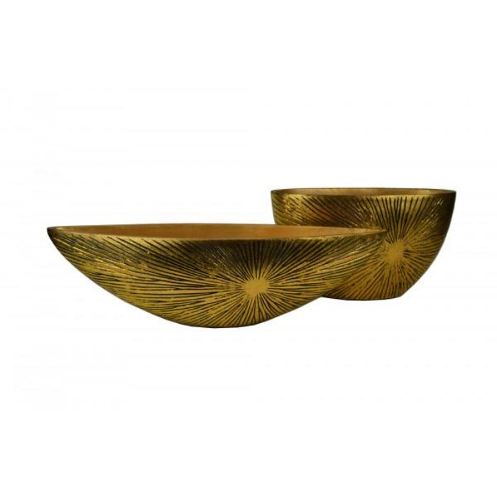 Ormaz Antique Gold Decorative Bowl Planter - Notbrand