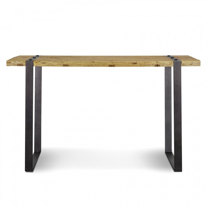 Charlie Reclaimed Elm Narrow Wood Console Table 1.5m - Notbrand