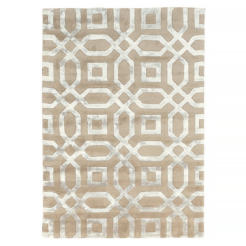 Beige Splendour Luxury Tufted Wool Rug