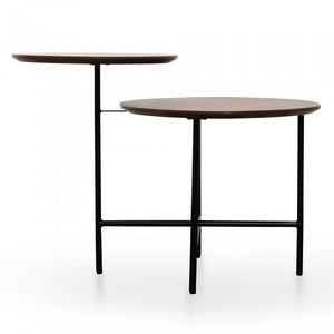Sira Side Table - Walnut - Black Legs - Notbrand